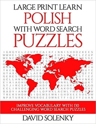 amazon com large print learn polish with word search puzzles learn