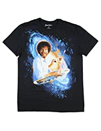 Bob Ross Galaxy Paining Graphic T-Shirt