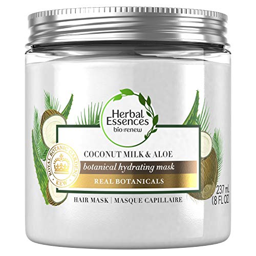 Herbal Essences bio: renew Coconut Milk & Aloe Hydrating Hair Mask for Dry Damaged Hair, 237 Milliliters