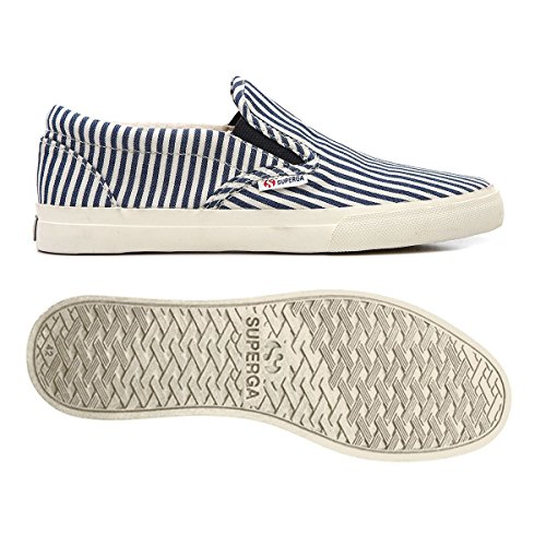 Superga 2311-COTSTRIPEDU BLUE-WHITE