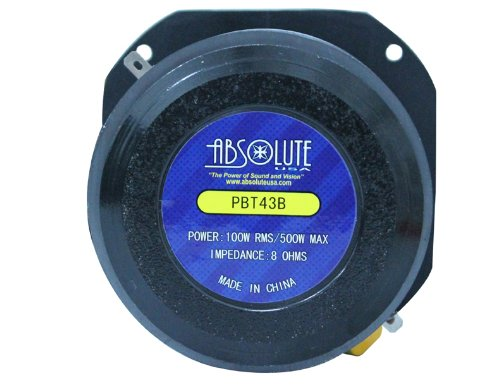 Absolute USA PBT43B 4-Inch Titanium Bullet High Compression Tweeter with 11 Oz Ferrite Magnet by Absolute (Image #8)