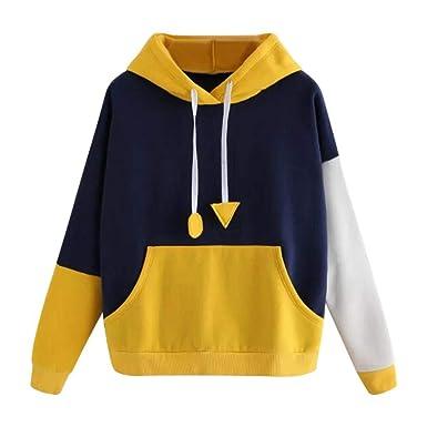249c18ce4e2201 MIRRAY Damen Herbst Sweatshirt Hoodie Pullover mit Kapuze Pullover Tops  Bluse: Amazon.de: Bekleidung