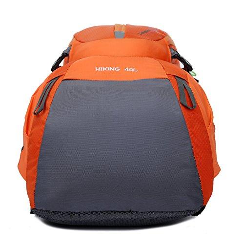 Mountaineering Bag Outdoor Männer und Frauen Schulter Rucksack nylon Wanderpackage Bergsteigen Taschen , blau