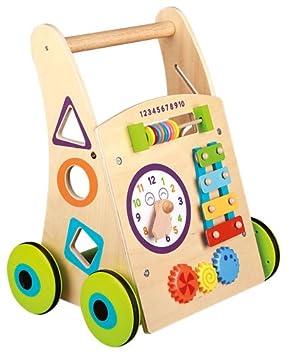 Nenittos Mi Andador de Madera con Actividades: Amazon.es: Juguetes y ...