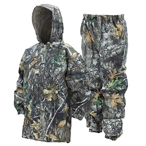 Frogg Toggs Frogg Toggs Polly Woggs Waterproof Breathable Rain Suit, Youth, Realtree Edge, Size Large Polly Woggs Waterproof Breathable Rain Suit, Realtree Edge, Large
