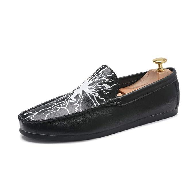 Calzados Informales Mocasines Para Hombres Zapatos Oxford De Cuero Zapatos Planos Clásicos Con Zapatos Uniformes Zapatos Derby Para Hombres: Amazon.es: Ropa ...