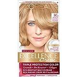 L'Oréal Paris Excellence Créme Permanent Hair Color, 8G Medium Golden Blonde, 1 kit 100% Gray Coverage Hair Dye