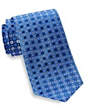 Geoffrey Beene Men's Big-Tall Open Grand Circles Extra Long Tie, Navy, One Size
