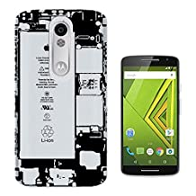 C0869 - Cool Inside Iphone Battery X-Ray Style Design Motorola Moto X Play Fashion Trend CASE Gel Rubber Silicone All Edges Protection Case Cover