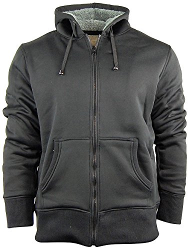 Men's Zip Up Hoodie/Hooded Jacket With Fleece Lining | Soft and Warm Sherpa Lined