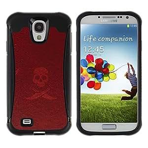 """Pulsar iFace Series Tpu silicona Carcasa Funda Case para Samsung Galaxy S4 IV I9500 , Pirata símbolo de la muestra del lema del cráneo Espadas"""""""