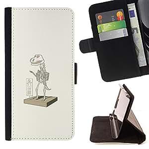 BullDog Case - FOR/Samsung ALPHA G850 / - / Dinosaur Suit Elm0 - Funny /- Monedero de cuero de la PU Llevar cubierta de la caja con el ID Credit Card Slots Flip funda de cuer