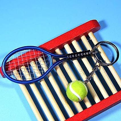 Lynn025Keats Mini Raqueta de Tenis Colgante Llavero Llavero ...
