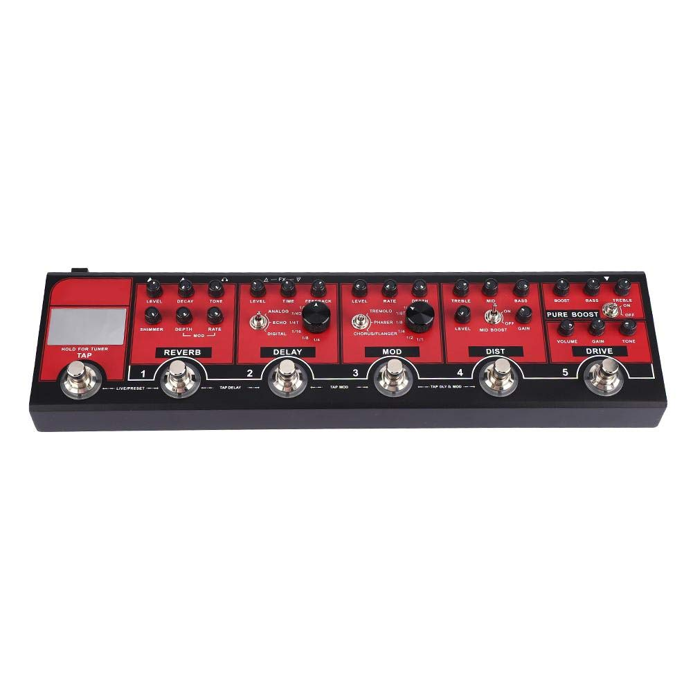 Guitar Pedal, Professional Multi-Effects Pedal, Mini Analog Compressor Electric Guitar Effect Pedal True Bypass Metal Shell for Connection to Mixing Desk, Computer and Headphones