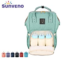 Sunveno Mummy Maternity Nappy Bag Brand Large Capacity Baby Bag Travel Backpa...