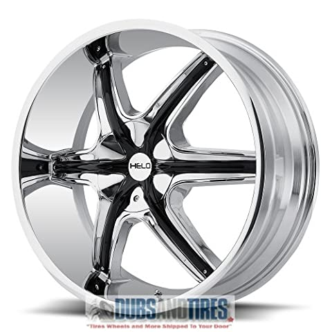 Helo HE891 Chrome Wheel with Gloss Black and Chrome Accents (20x8.5