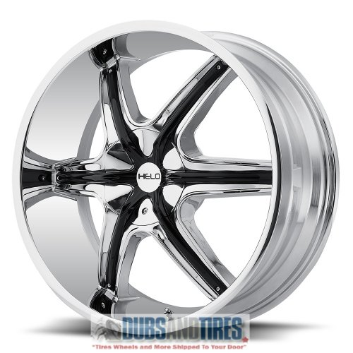Helo HE891 Chrome Wheel with Gloss Black and Chrome Accents