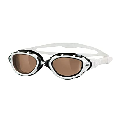 62a54fb269d Dr. Goggle Exclusive. ZOGGS Predator Flex Polarized Ultra (White-Black  Bronze