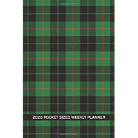 2020 Pocket Sized Weekly Planner: Black Watch Plaid Scottish British Tartan | Daily Weekly Monthly View | Clean Simple Calendar Organizer | 4x6 in 110 pages | One 1 Year Agenda Schedule | To Do Lists and More!