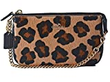 COACH Large Haircalf Wristlet 19 in Gold / Black / Neutral 64583