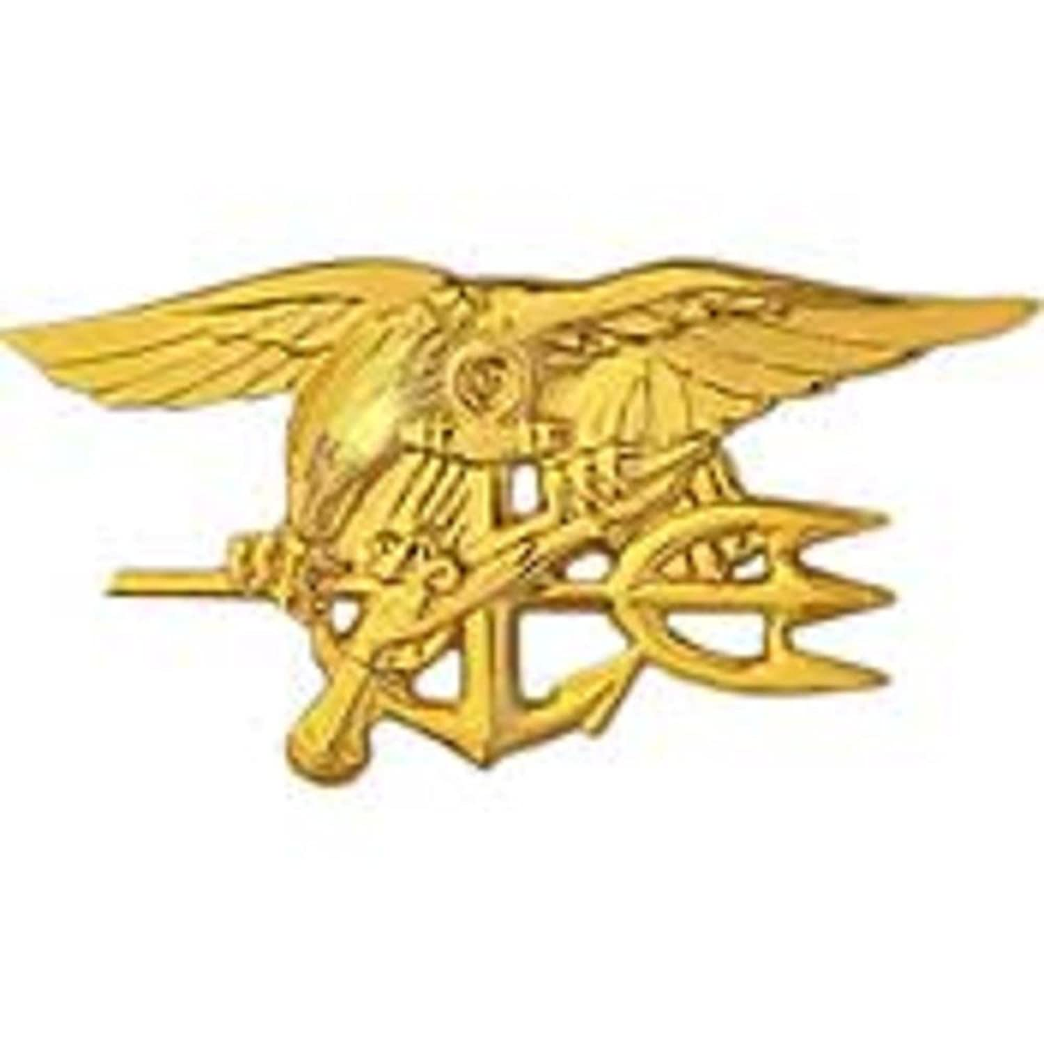 Amazon Us Navy Seal Trident Gold Plated 2 34 Clothing
