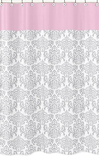 pink grey shower curtain. Sweet Jojo Designs Pink  Gray and White Elizabeth Kids Bathroom Fabric Bath Shower Curtain Amazon com