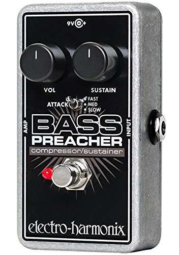 Electro-Harmonix  Bass Preacher Bass Compressor/Sustainer Pedal (Best Guitar Compressor Sustainer)