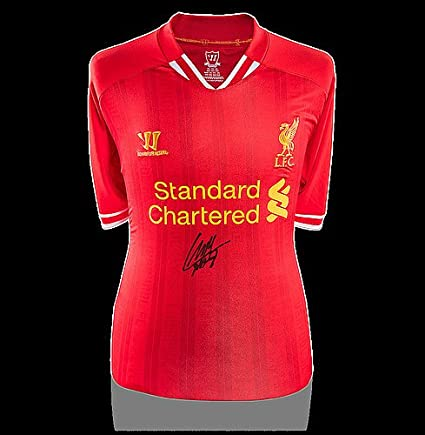 3f4275b1a4c Image Unavailable. Image not available for. Color  Luis Suarez Front  Autographed Signed Liverpool 2013-14 Home Shirt - Certified Authentic Soccer  Signature