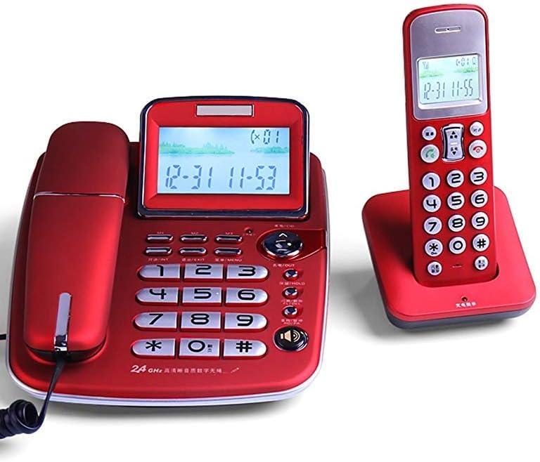 Telefónica de larga distancia y digitales extensión de teléfono inalámbrico maestro - - Teléfono inalámbrico extensión de oficina en el hogar teléfono fijo,Red: Amazon.es: Hogar