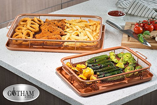 GOTHAM STEEL Crisper Tray Set - Regular-sized and Large-sized