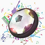 Leading Air Power Soccer Disc, Powerful Hover Ball with LED Lights and Music, Children Sport Training Football Gliding Ball with Foam Bumpers, 7-Inch Disk Hoverball Air Power