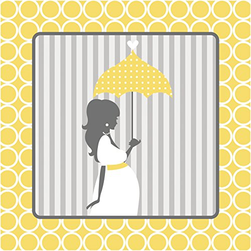 Creative Converting 16 Count 3-Ply Mod Baby Shower Lunch Napkins, Yellow/Gray -