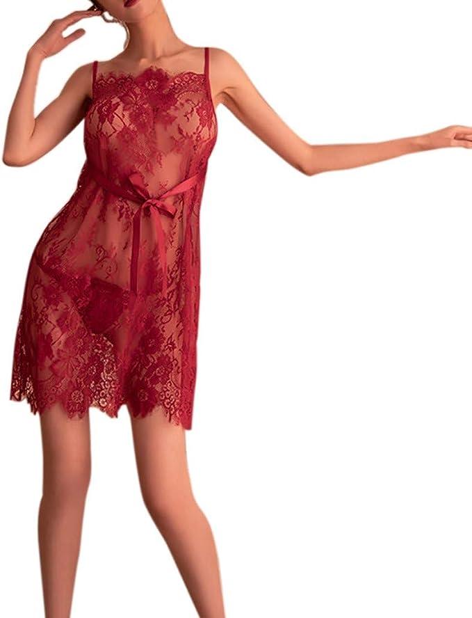 Dessous Nachtwäsche Unterwäsche Nachthemd Kleid Sleepwear Frauen Figurbetont