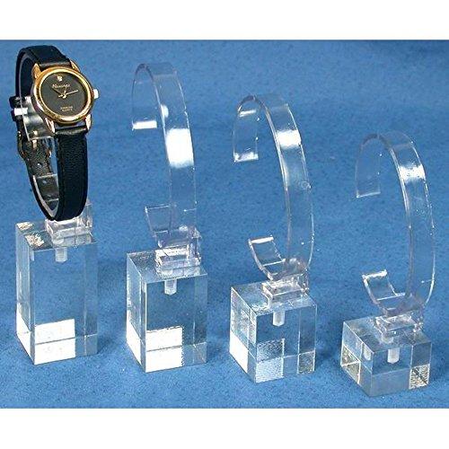 Acrylic Display Jewelry New Showcase (4 Acrylic Watch Stands Showcase Riser Jewelry Displays)