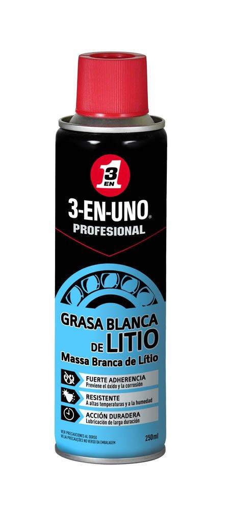 3-EN-UNO Profesional - Grasa Blanca de Litio en Spray- 250 ml