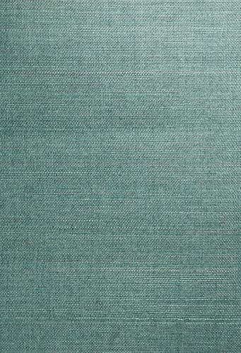 Kenneth James 63-54758 Kimiyo Grass Cloth Wallpaper, Aqua