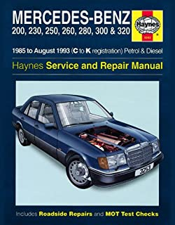 mercedes w124 owner s workshop manual 1985 1995 200 200e e200 rh amazon co uk mercedes w124 owners manual free download w124 owner's manual pdf
