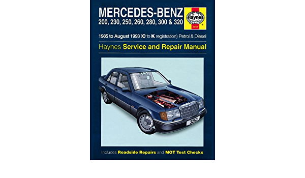 Mercedes W124 Clase E 200E 230E 260E – 280E 300E 320E gasolina y diesel de 200d 250d 300d 1985 – 1993 Haynes Manual
