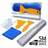 HuLuBB 5m Car Protection Film Set, Transparent Film With 2 Scrapers,6pcs Car Door Handle Stickers and a Clean Towel For Car Vehicle Protection