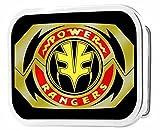 Power Rangers Live Action TV Series White Ranger Logo Rockstar Belt Buckle