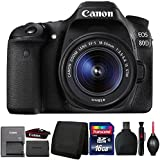 Canon EOS 80D 24.2MP DSLR Camera with 18-55mm IS STM Lens and Accessory Kit
