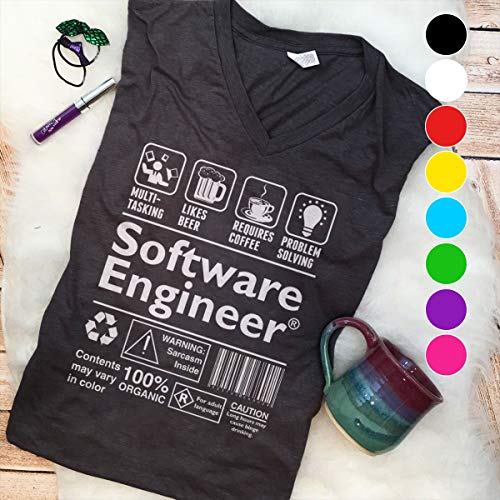(Engineer Embroidery Beer Coffee Problem Solving Software Engineer T Shirt Long Sleeve Sweatshirt Hoodie Youth T Shirt Long Sleeve Sweatshirt Hoodie Youth)