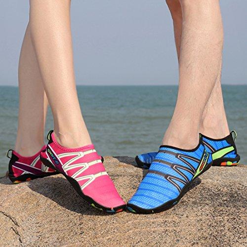 Hommes de Pour Chaussettes Nager Rose D'Eau Sport Chaussures Surf Unisexe Chaussures Yoga Dame Plage Leaproo Aquatique BqIOI