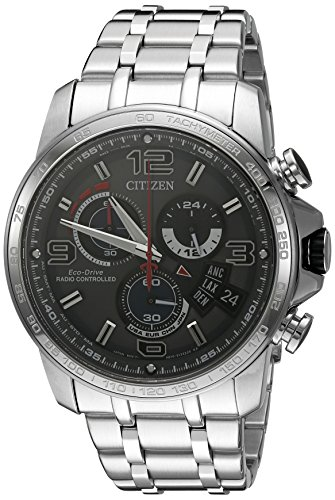 Citizen-Eco-Drive-Mens-BY0100-51H-Chrono-Time-A-T-Analog-Display-Silver-Watch