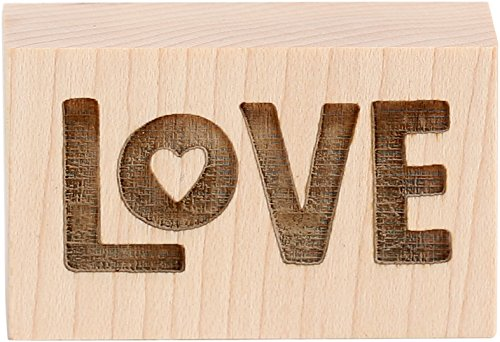 - CLEARSNAP Wood Mount Rubber Stamp 1 1/4-inch-by-2-inch, Little Love, 2