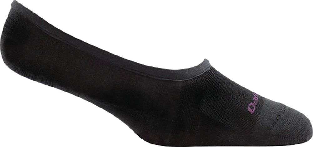 Darn Tough Top Down Solid No Show Light Sock - Women's Black Small