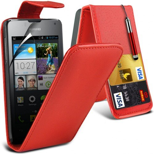 huawei-ascend-y300-leather-flip-case-cover-redplus-free-gift-screen-protector-and-a-stylus-pen-order