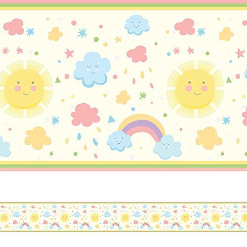 Faixa Decorativa Infantil Adesiva Arco Iris 6mx15cm
