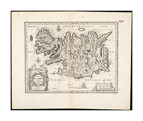 1660 Wall Map Iceland Tabula Islandiae Collection of old Wall Maps Wall Map|Ready to Frame|Historic Antique Vintage - Audrey Hepburn Diy Costume