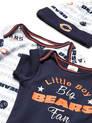 NFL Boys' Bodysuit Gown And Cap Set